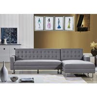 Clemonte Sectional Sofa Fabric Grey-Right.