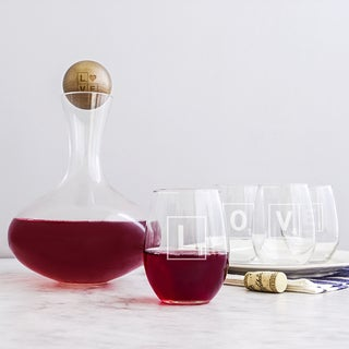 Love Letter Wine Decanter and Glass Set