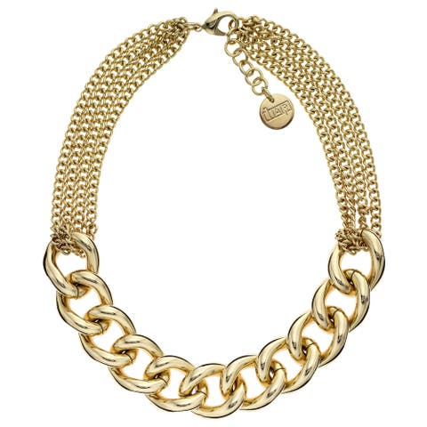 Isla Simone - 18 Karat Gold Electro Plated Large Rounded Twisted Link And Chain Necklace