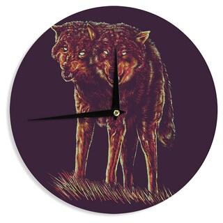 KESS InHouseBarmalisiRTB '2head' Purple Red Wall Clock