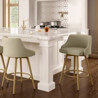 Shop Amisco Duncan Swivel Metal Barstool Free Shipping