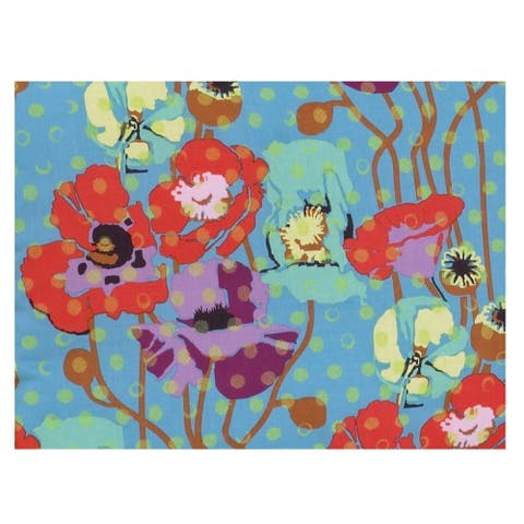 Cotton Tale Lagoon Collection Multicolor Cotton 3-yard Floral Fabric
