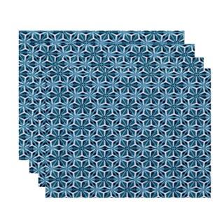 Water Mosaic Geometric Print Place Mat (Set of 4)