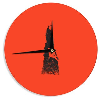 KESS InHouseBarmalisiRTB 'Climbing' Black Red Wall Clock