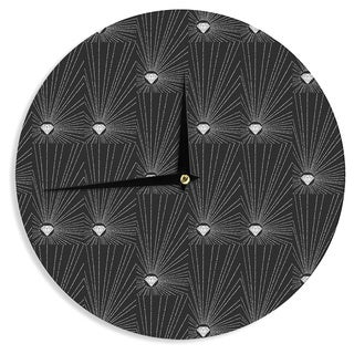 KESS InHouseBarmalisiRTB 'Diamond' Black White Wall Clock