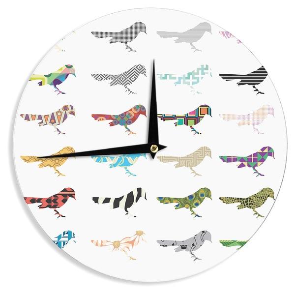 "Kess InHouse Belinda Gillies ""Birds"" Wall Clock 12"""