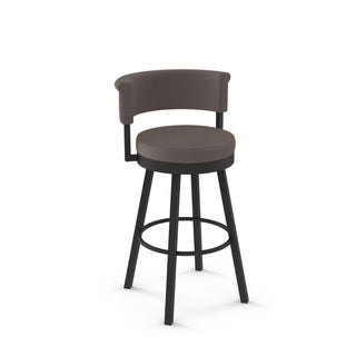 Clay Alder Home Corpus Polyester Swivel Metal Leg Counter Stool (2 options available)