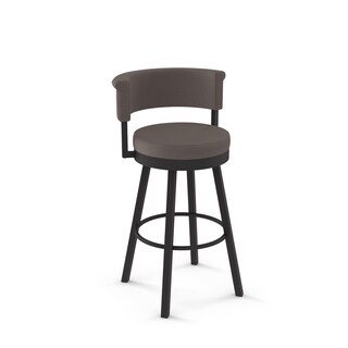 Clay Alder Home Corpus Swivel Polyester Back and Seat Barstool (2 options available)