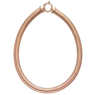 Isla Simone - 18 Karat Rose Gold Electro Plated Turbo Gas Necklace With Clasp