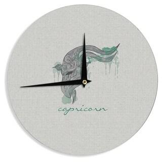 "Kess InHouse Belinda Gillies ""Capricorn"" Wall Clock 12"""
