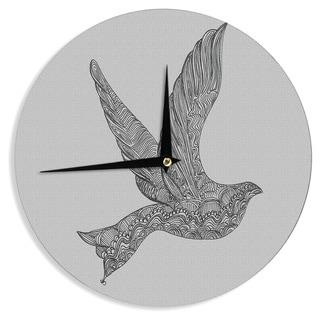 "Kess InHouse Belinda Gillies ""Dove"" Wall Clock 12"""