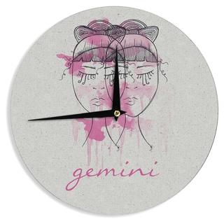 """Kess InHouse Belinda Gillies """"Gemini"""" Wall Clock 12"""""""