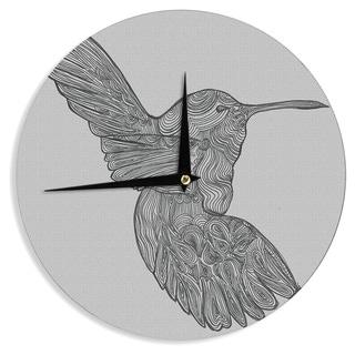 "Kess InHouse Belinda Gillies ""Hummingbird"" Wall Clock 12"""