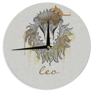 "Kess InHouse Belinda Gillies ""Leo"" Wall Clock 12"""