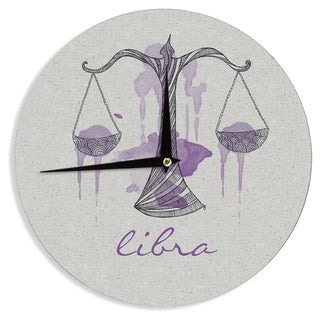"Kess InHouse Belinda Gillies ""Libra"" Wall Clock 12"""