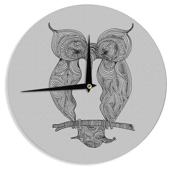 "Kess InHouse Belinda Gillies ""Owl"" Wall Clock 12"""