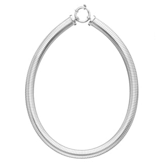 Isla Simone - Fine Silver Electro Plated Turbo Gas Necklace With Clasp