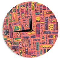 KESS InHouseAkwaflorell 'Squares' Wall Clock