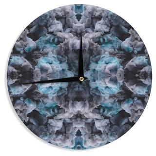 KESS InHouseAkwaflorell 'Abyss' Blue Black Wall Clock