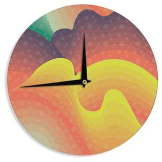 KESS InHouseAkwaflorell 'Waves Waves' Wall Clock