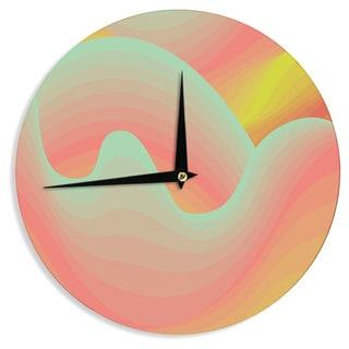 KESS InHouseAkwaflorell 'Way of the Waves' Wall Clock