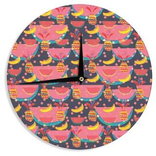 KESS InHouseAkwaflorell 'Yummy' Wall Clock