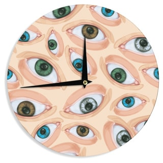 "Kess InHouse Alisa Drukman ""Eyes"" Eyeballs Wall Clock 12"""