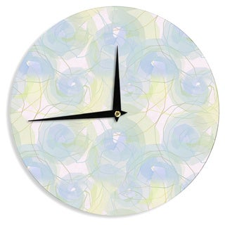 "Kess InHouse Alison Coxon ""Blue Paper Flower"" Wall Clock 12"""