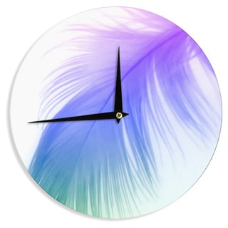 "Kess InHouse Alison Coxon ""Feather Colour"" Wall Clock 12"""