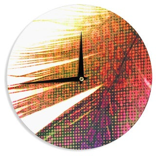 KESS InHouseAlison Coxon 'Feather Pop' Wall Clock