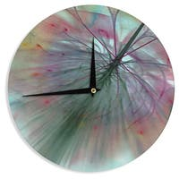 "Kess InHouse Alison Coxon ""Fleur"" Wall Clock 12"""