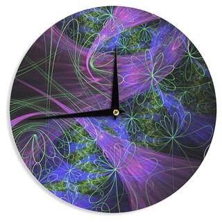 "Kess InHouse Alison Coxon ""Floral Garden"" Wall Clock 12"""