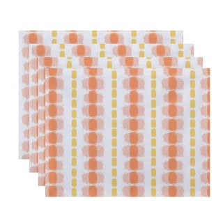 Watercolor Stripe Stripe Print Place Mat (Set of 4)