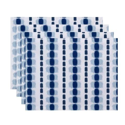 Watercolor Stripe Stripe Print Place Mat (Set of 4)