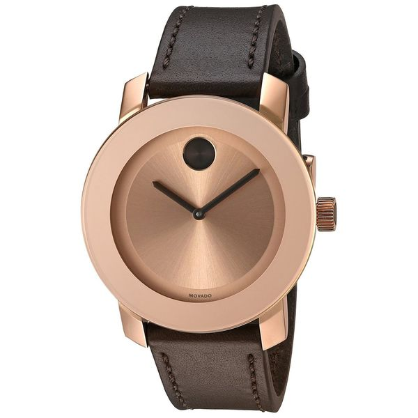 Movado Women's  'Bold' Brown Leather Watch -  3600380