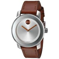 Movado Women's 3600379 'Bold' Brown Leather Watch