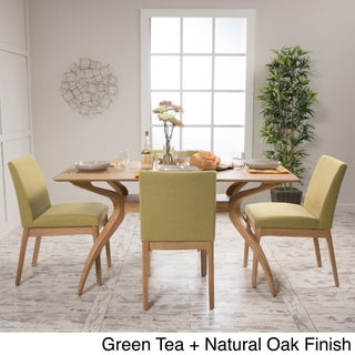 Kwame Mid-Century 5-Piece Rectangle Dining Set by Christopher Knight Home
