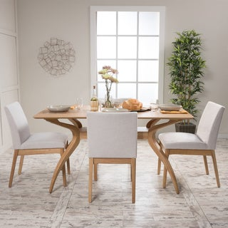 modern dining table with bench. Kwame Mid-Century 5-Piece Rectangle Dining Set By Christopher Knight Home Modern Table With Bench