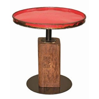 TF-0999-24-RE Ruby Moonshine Side Table (Thailand)