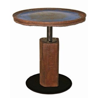 Handmade TF-0999-24-BU Cobalt Moonshine Side Table (Thailand)