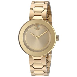 Movado Women's 3600382 'Bold' Gold-Tone Stainless Steel Watch