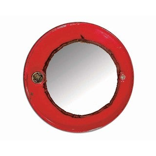 WA-0271-RE Ruby Steam Punk Barrel Mirror