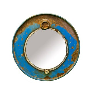 Cobalt Steam Punk Barrel Mirror
