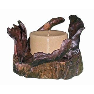 Handmade Small Rocky Mountain Candle Stand (Thailand)