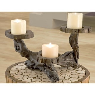 WA-0249 Large Rocky Mountain Candle Stand (Thailand)