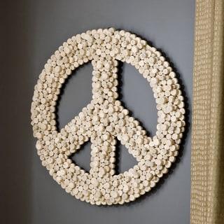 Handmade WA-0260-S Small Eucalyptus Peace Symbol (Thailand)