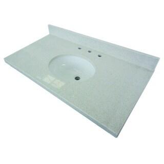 White Quartz 36-inch Vanity Top with Undermount Sink