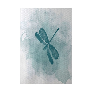 Dragonfly Summer Animal Print Indoor, Outdoor Rug (2' x 3')