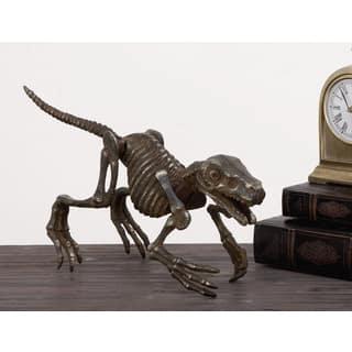 Urban Designs Solid Metal Decorative Dinosaur Skeleton Figurine|https://ak1.ostkcdn.com/images/products/12898543/P19655927.jpg?impolicy=medium