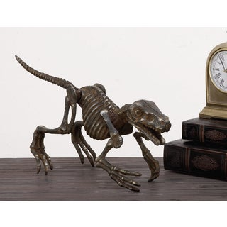 Urban Designs Solid Metal Decorative Dinosaur Skeleton Figurine